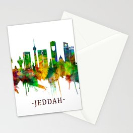 Jeddah Saudi Arabia Skyline Stationery Cards