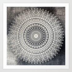 DESERT MOON MANDALA Art Print