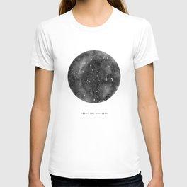 Trust the Universe - grey T-shirt