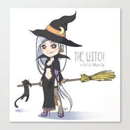 The Witch - The Cute Halloween Day Canvas Print