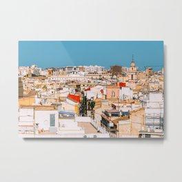Aerial Panoramic View Of Valencia City In Spain Metal Print