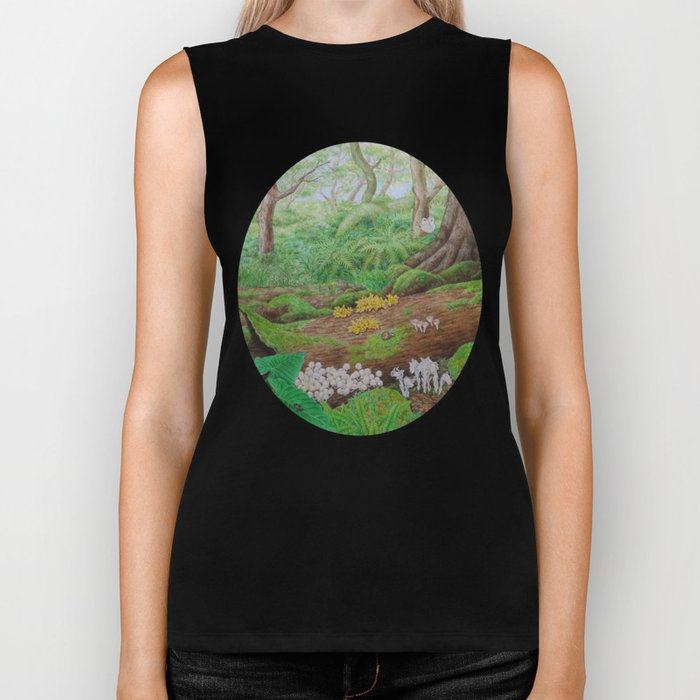 A Day of Forest (5). (dead wood ecosystem) Biker Tank