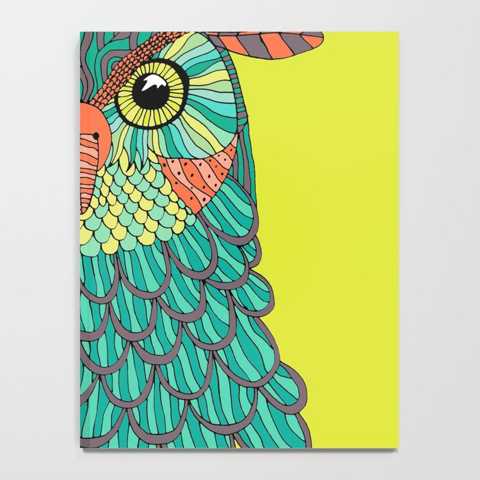 owl - Lime green Notebook