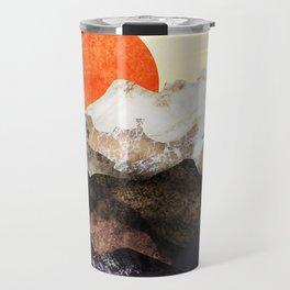 Marbled mountains by sunset Travel Mug