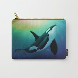 """The Dreamer Ascends"" by artist Amber Marine ~ (Copyright 2015) ~ Orca / Killer Whale Art Carry-All Pouch"