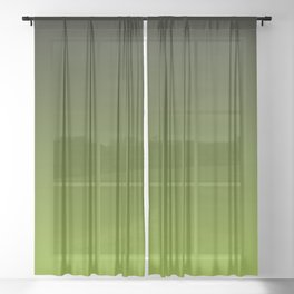 Ombre | Color Gradients | Gradient | Two Tone | Charcoal Grey | Lime Green | Sheer Curtain