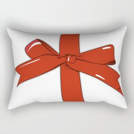 Red Christmas Ribbon #holidays #seasons #festive #design #kirovair Rectangular Pillow