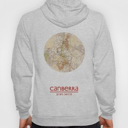 CANBERRA AUSTRALIA - city poster - city map poster print Hoody
