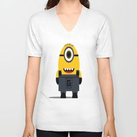 minion V-neck T-shirts featuring Minion by Ian Zandi