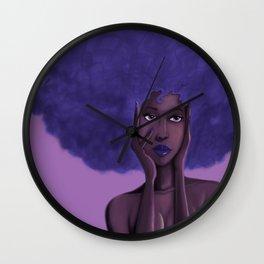 Afro Blu Wall Clock