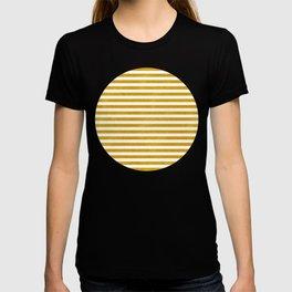 Elegant Gold & White Stripe T-shirt