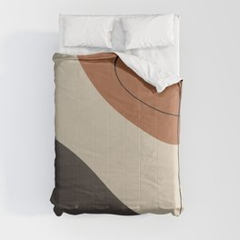 Modern Abstract Shapes #3 Comforters