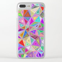 Triangular happiness Clear iPhone Case