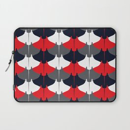Manta Ray Pattern (Blue and Red) Laptop Sleeve