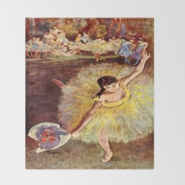 Dancer with Bouquet by Edgar Degas Throw Blanket