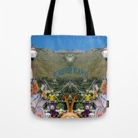 forever young Tote Bags featuring Forever Young by CrismanArt