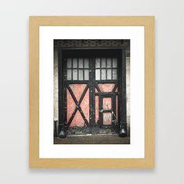 Garage Door Framed Art Print