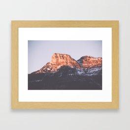 Snow Mountains Framed Art Print