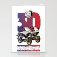 honda Stationery Cards featuring Honda First Turbo Club by Saddle Bums