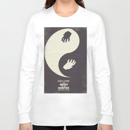 The night of the hunter, minimal movie poster (Robert Mitchum, Charles Laughton) classic Hollywood Long Sleeve T-shirt