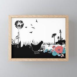Gorgeous Summer Chicken Vibes Framed Mini Art Print