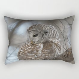 Sleepy Owl Rectangular Pillow