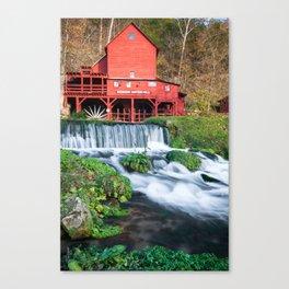 Waterfall and Hodgson Mill - Missouri Canvas Print