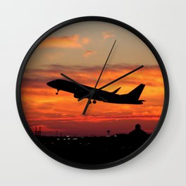 Embraer E-170 Sunrise Takeoff Wall Clock