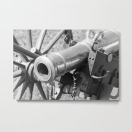 The cannon (black & white version) Metal Print