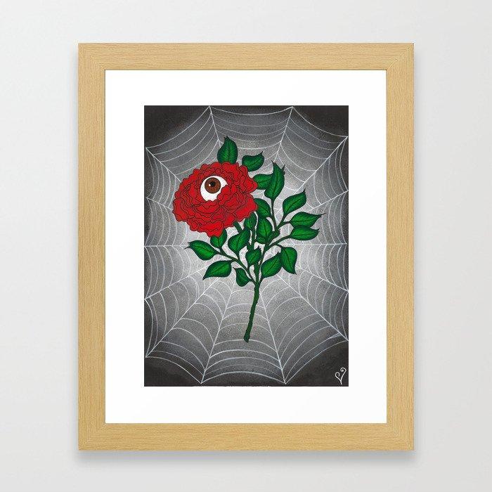 Caught -Eyeball Flower Framed Art Print