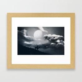Eternal Moon Rises Framed Art Print