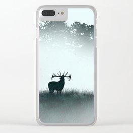 The male deer - minimalist landscape Clear iPhone Case
