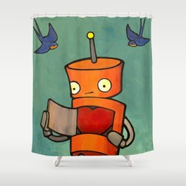Robot - You Mke Me Float! Shower Curtain