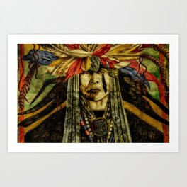 Crying Indian Art Print