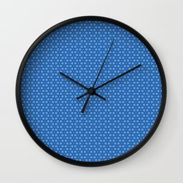 Blue icy and snowy conceptional background pattern Wall Clock