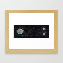 Vintage Diagram of The Apollo Mission (1969) Framed Art Print