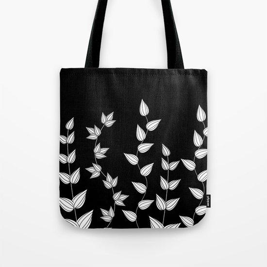 Black and White Garden Tote Bag