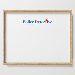 Top Police Detective Serving Tray
