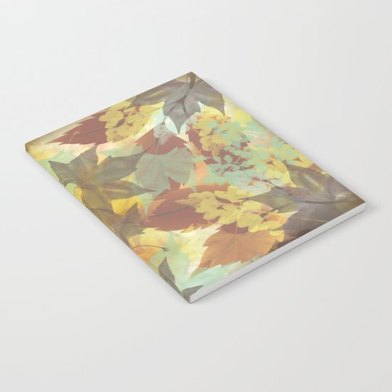 Autumn Leaves Abstract Notebook