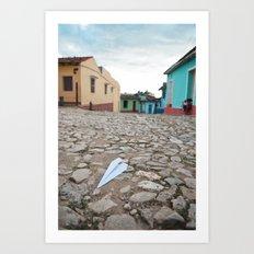 Trinidad Cuba Old City Architecture Cobblestone Streets Urban Photography Travel Island Caribbean La Art Print
