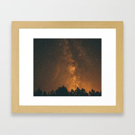 The Milky Way (Forest Landscape Photography, Starry Night Sky Photo) Framed Art Print