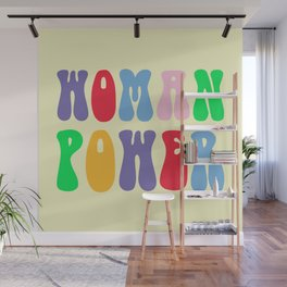 Woman Power Feminist Quote Wall Mural