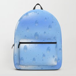 Water dops with sky background Backpack