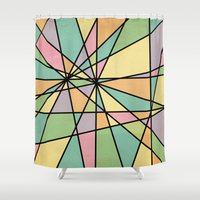 stained glass Shower Curtains featuring Stained Glass by Tammy Kushnir