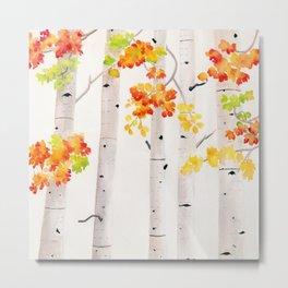 Autumn Birch Song Metal Print