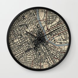 Vintage Map of Nashville Tennessee (1929) Wall Clock