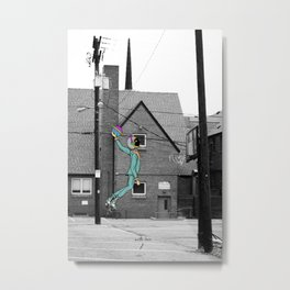 No Gravity in Real Life Metal Print