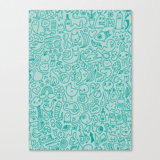Chalk Doodle Canvas Print