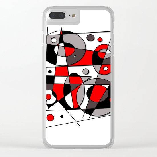 Abstract #44 Clear iPhone Case