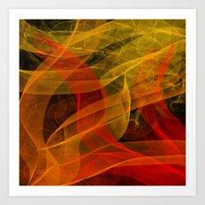 Warm Color Collab Art Print